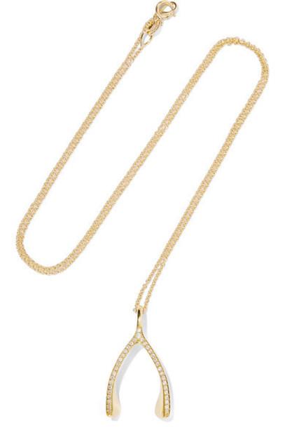 JENNIFER MEYER wishbone necklace diamond necklace gold jewels