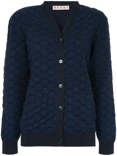 MARNI cardigan cardigan women blue knit sweater