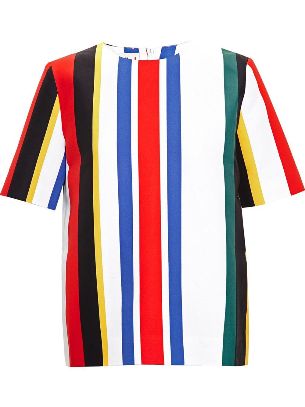 Marni candy striped top