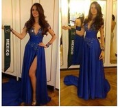 dress,kylie jenner blue dress bluedress fitted,prom dress,dressy,gal meets glam,girly,royal blue