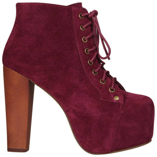 Jeffrey Campbell Women's Lita Shoes - Red Wine Suede - Polyvore