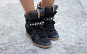 shoes,black,studs