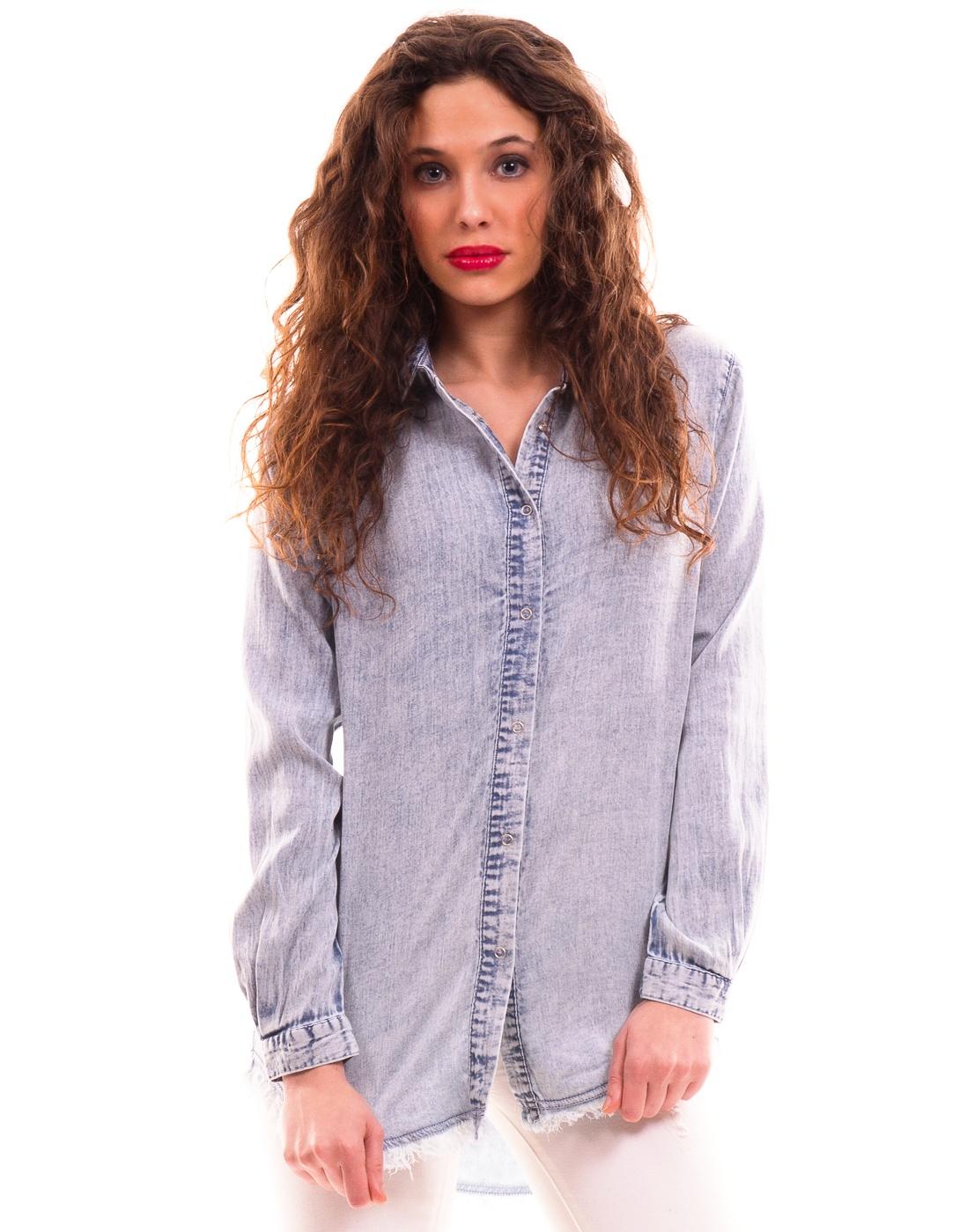 Camisa vaquera suave de flecos de vila clothes
