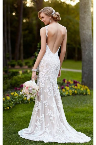 wedding dress bridal gowns backless