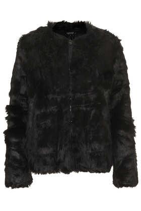 Fur Bomber Jacket - Topshop