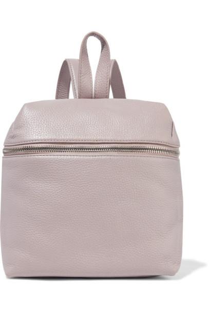 kara backpack leather backpack leather lilac bag