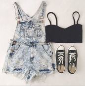 shorts,summer,sneakers,converse,dungarees