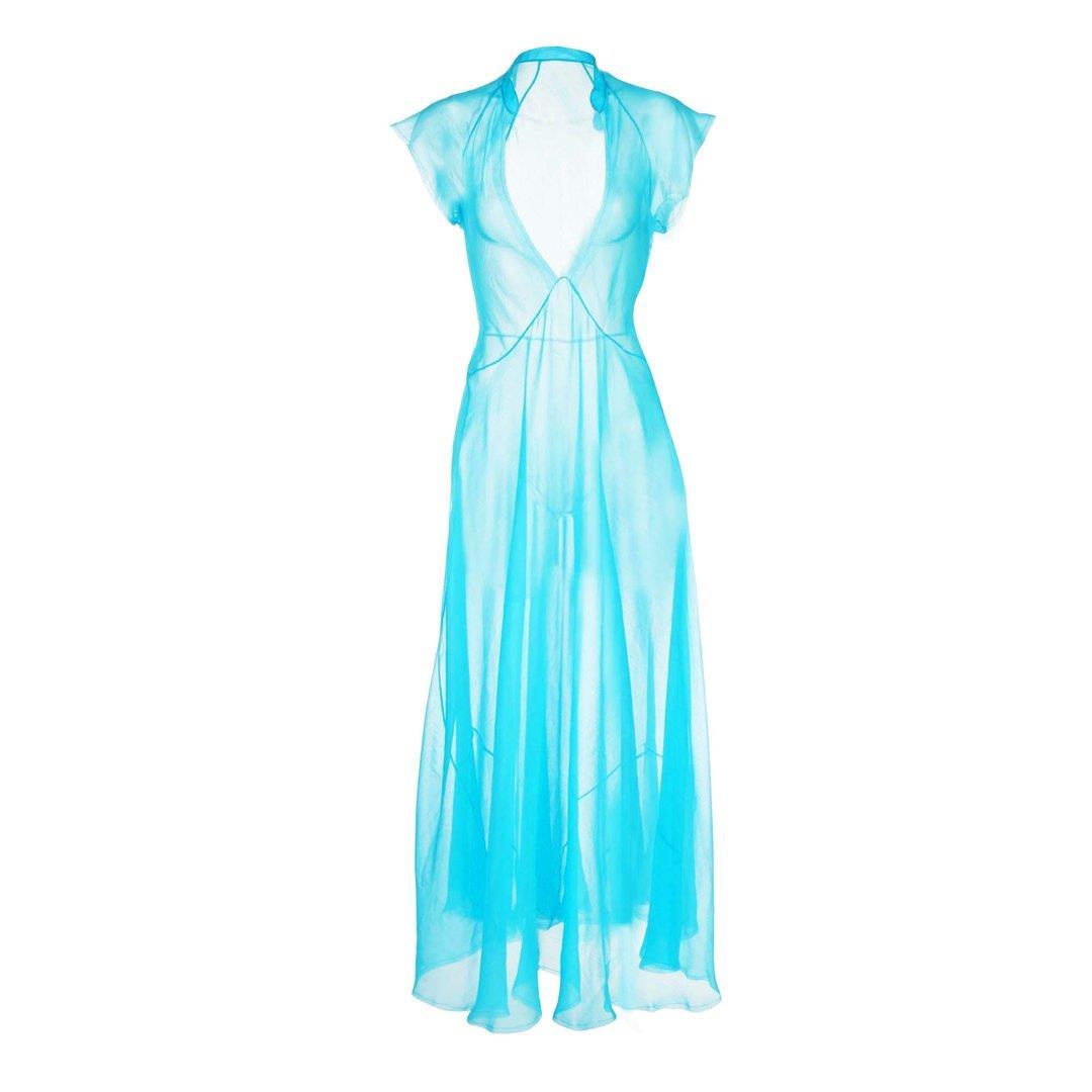 Turquoise Chiffon Dress