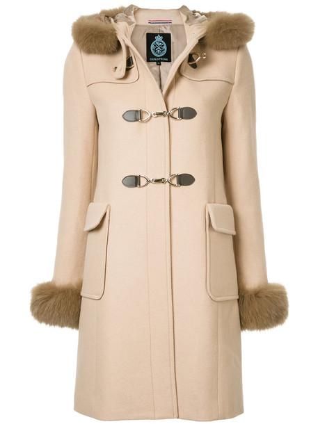 coat duffle coat women wool brown