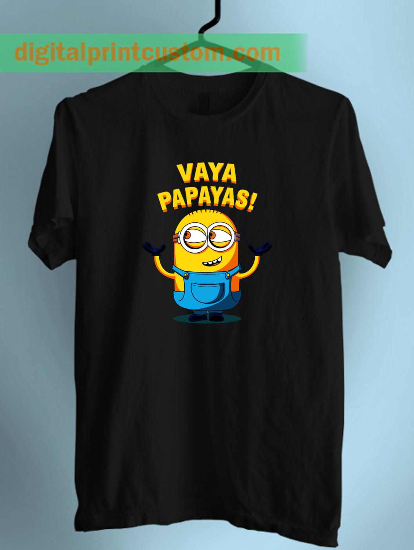 Despicable Minion Vaya Papaya Quote Unisex T Shirt   Digitalprintcustom