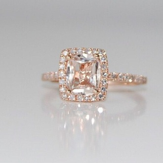 jewels rose gold rings engagement ring