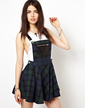 Freak of Nature | Freak Of Nature New York Doll Pinafore Dress In Plaid at ASOS