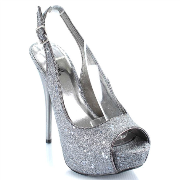 Shoes: heels, high heels, glitter shoes, glitter, sparkle, sparkly ...