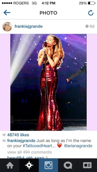 dress red dress ariana grande ariana grande butera sparkly tight long red dress burgundy
