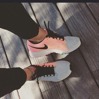 shoes nike salmon grey black coral running nike running shoes