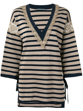jumper women cotton brown sweater