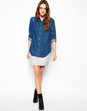 ASOS | ASOS Denim Shirt in Dark Wash at ASOS