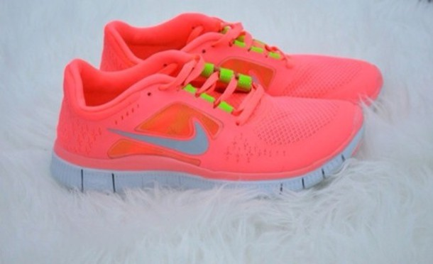 nike free runs neon pink with yellow