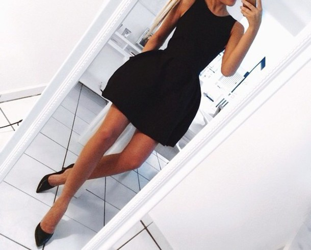 dress black elegant dress little black dress formal dress evening dress black heels black dress short dress little black dress little puff party cute clubwear style fashion cute dress