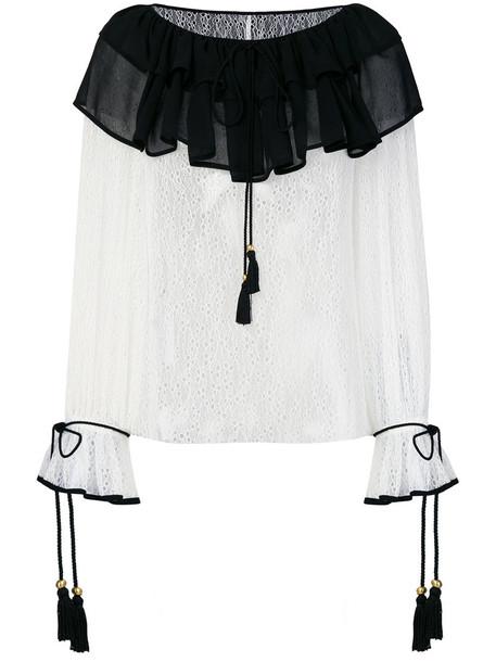 Philosophy di Lorenzo Serafini blouse ruffle women white top