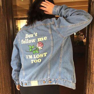 jacket yeah bunny denim rose oversized 36683
