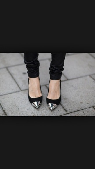 shoes metallic metallic shoes black shoes flats leather black