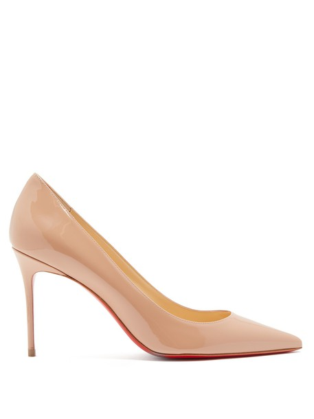 christian louboutin pumps leather nude shoes