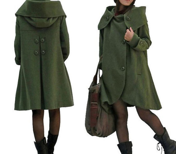 coat cape winter wool coat