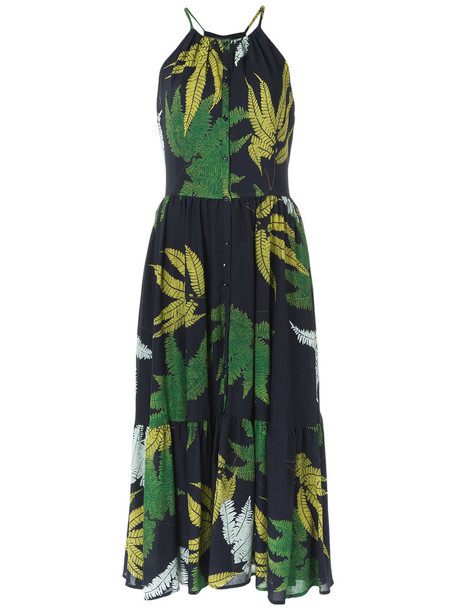 Andrea Marques dress printed dress women midi cotton
