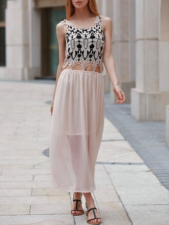 dress fashion style trendy maxi dress flowy embroidered gamiss