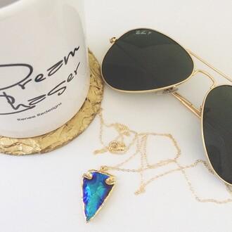 jewels titanium blue arrowhead tribal jewelry pine jewelry lilliandtori craftedwestside arrowhead necklace arrowhead boho jewelry ootd fashion style boutique luxe statement necklace