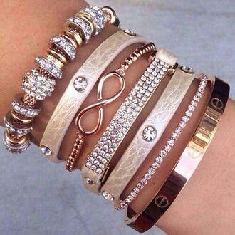 jewels leather bracelet stacked bracelets gold bracelet bracelets jewelry infinity