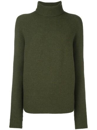 jumper turtleneck women wool green sweater