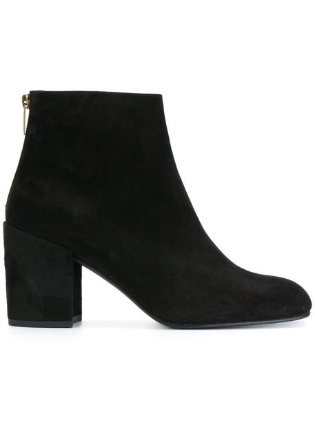 STUART WEITZMAN women ankle boots leather suede black shoes