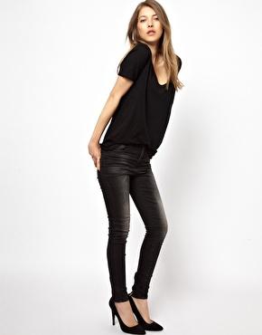 Vila | Vila Black Skinny Jean at ASOS