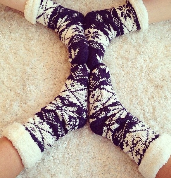 socks cozy holiday season