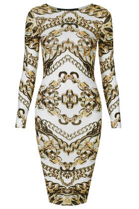 **Gold Chain Midi Dress by Jaded London - Brands at Topshop - Dresses  - Clothing - Topshop