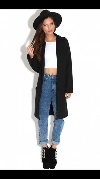 cardigan black blazer long blazer slouchy blazer