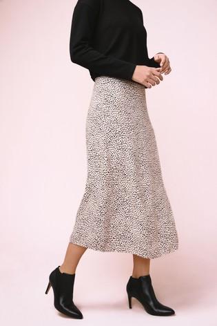 Buy White Spot Print Midi Skirt from the Next UK online shop