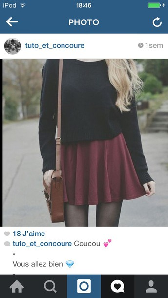 jumpsuit bag sweater tights skirt