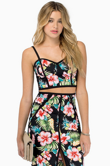 Tropical Paradise Crop Top - Tobi