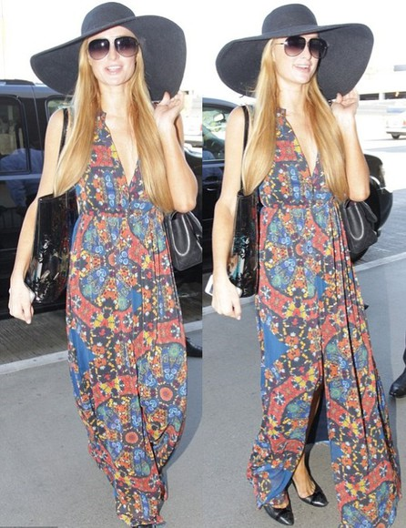 dress maxi dress paris hilton summer outfits floral