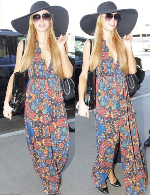 dress maxi dress floral summer outfits paris hilton