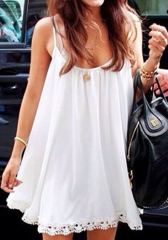 dress style fashion summer dress spring girly white dress white lace dress
