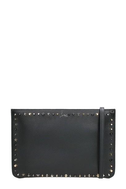 christian louboutin clutch black bag