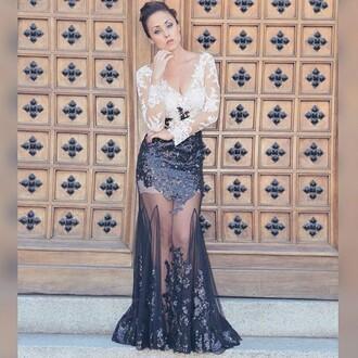 dress edressit prom lace dress black fashion gown