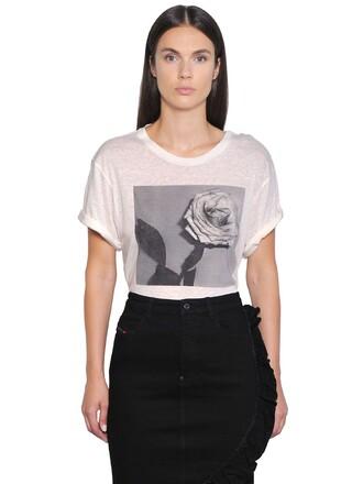 t-shirt shirt rose white top
