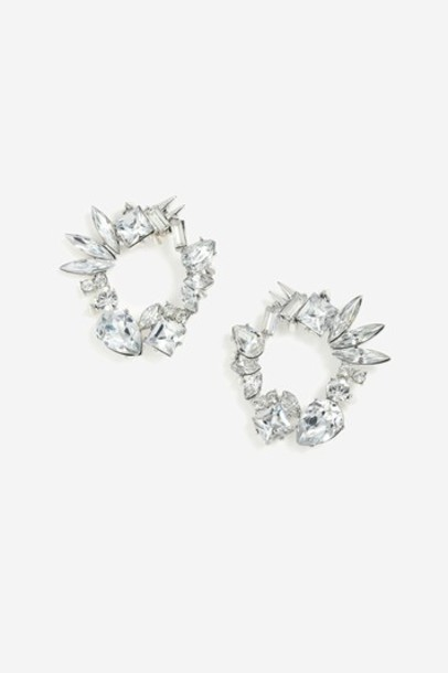 clear earrings stud earrings silver jewels