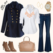 bag,navy coat,blue coat,brown bag,handbag,chic look,office outfits,elegant outfit,cute clothing,coat