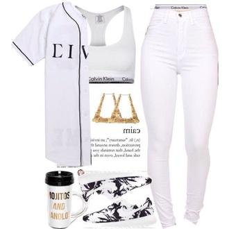 shirt baseball jersey all white everything